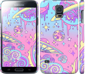 Чехол на Samsung Galaxy S5 g900h Розовая галактика