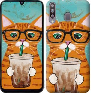Чехол на Samsung Galaxy M30 Зеленоглазый кот в очках