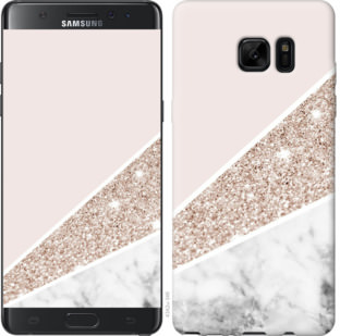 Чехол на Samsung Galaxy Note 7 Duos N930F Пастельный мрамор