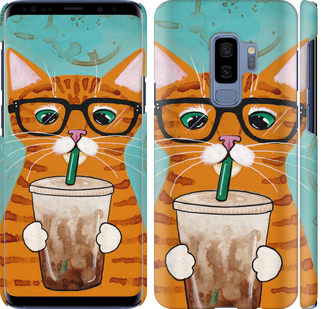 Чехол на Samsung Galaxy S9 Plus Зеленоглазый кот в очках