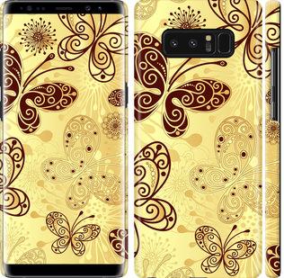 Чехол на Samsung Galaxy Note 8 Красивые бабочки