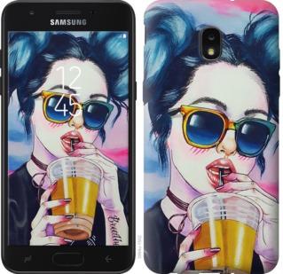 Чехол на Samsung Galaxy J7 2018 Арт-девушка в очках