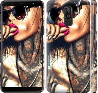 Чехол на Samsung Galaxy J8 2018 Девушка в тату