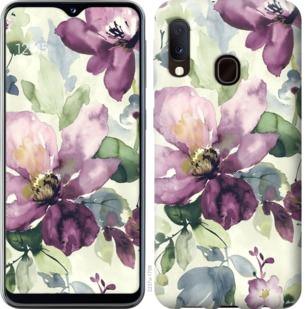 Чехол на Samsung Galaxy A20e A202F Цветы акварелью