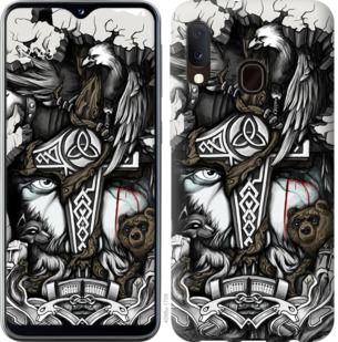 Чехол на Samsung Galaxy A20e A202F Тату Викинг