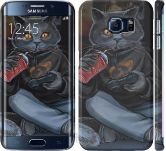Чехол на Samsung Galaxy S6 Edge G925F gamer cat