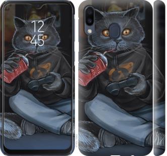 Чехол на Samsung Galaxy M20 gamer cat