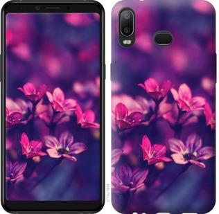 Чехол на Samsung Galaxy A6s Пурпурные цветы