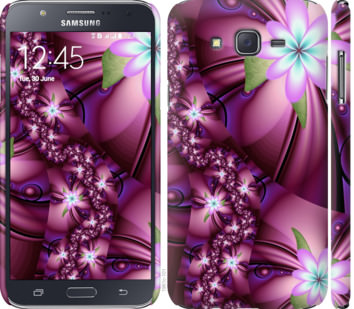 Чехол на Samsung Galaxy J7 J700H Цветочная мозаика