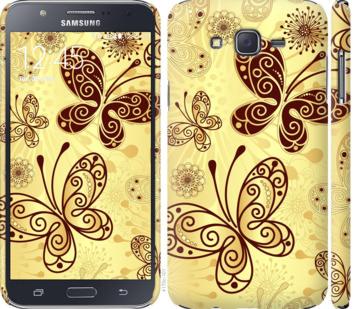 Чехол на Samsung Galaxy J7 J700H Красивые бабочки