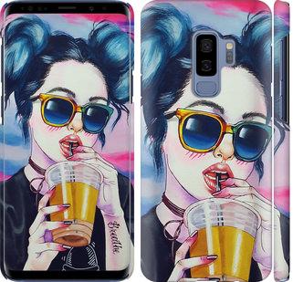 Чехол на Samsung Galaxy S9 Plus Арт-девушка в очках