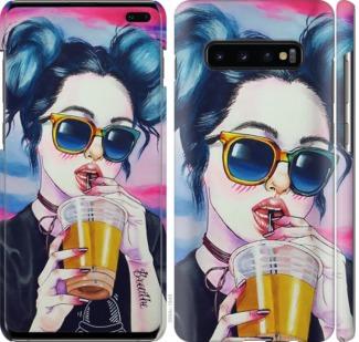 Чехол на Samsung Galaxy S10 Plus Арт-девушка в очках