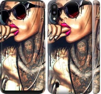 Чехол на Samsung Galaxy M10 Девушка в тату