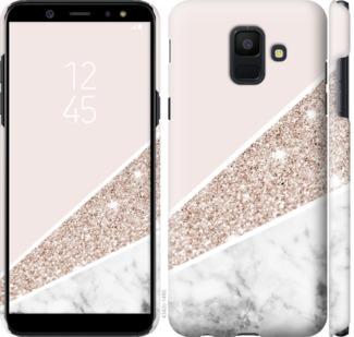 Чехол на Samsung Galaxy A6 2018 Пастельный мрамор