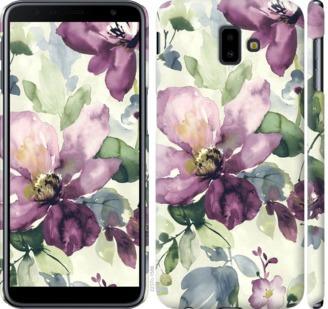 Чехол на Samsung Galaxy J6 Plus 2018 Цветы акварелью