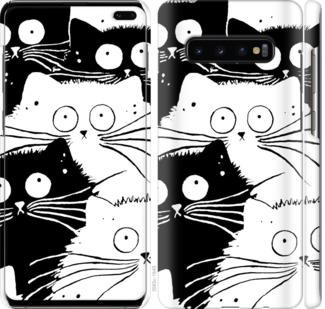 Чехол на Samsung Galaxy S10 Plus Коты v2