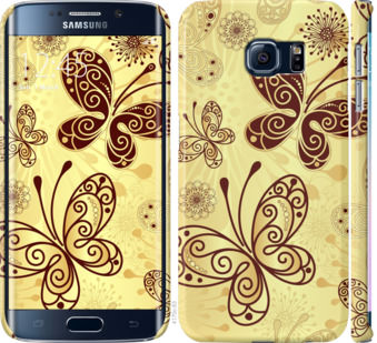 Чехол на Samsung Galaxy S6 Edge G925F Красивые бабочки