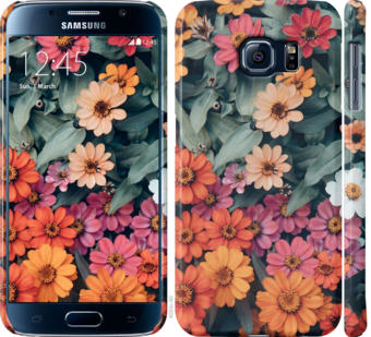 Чехол на Samsung Galaxy S6 G920 Beauty flowers