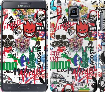 Чехол на Samsung Galaxy Note 4 N910H Many different logos
