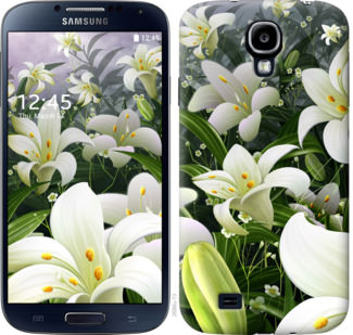 Чехол на Samsung Galaxy S4 i9500 Белые лилии