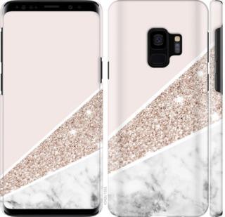 Чехол на Samsung Galaxy S9 Пастельный мрамор