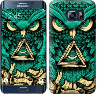 Чехол на Samsung Galaxy S6 Edge Plus G928 Сова Арт-тату