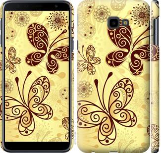 Чехол на Samsung Galaxy J4 Plus 2018 Красивые бабочки