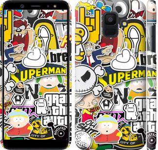 Чехол на Samsung Galaxy A6 2018 Popular logos