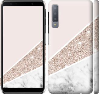 Чехол на Samsung Galaxy A7 (2018) A750F Пастельный мрамор