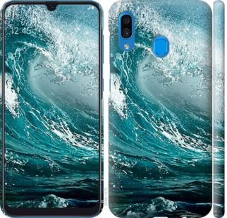 Чехол на Samsung Galaxy A20 2019 A205F Морская волна