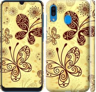 Чехол на Samsung Galaxy A20 2019 A205F Красивые бабочки