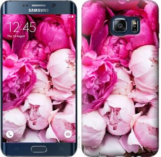 Чехол на Samsung Galaxy S6 Edge Plus G928 Розовые пионы