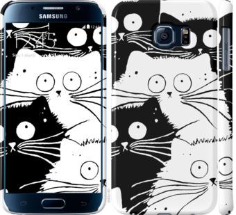 Чехол на Samsung Galaxy S6 G920 Коты v2