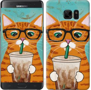 Чехол на Samsung Galaxy Note 7 Duos N930F Зеленоглазый кот в очках