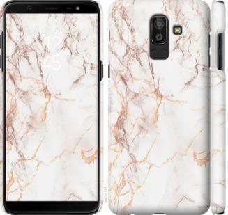 Чехол на Samsung Galaxy J8 2018 Белый мрамор
