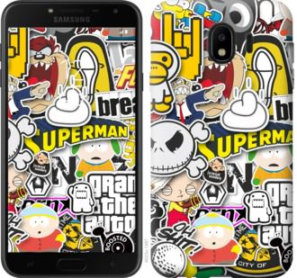 Чехол на Samsung Galaxy J4 2018 Popular logos