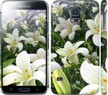 Чехол на Samsung Galaxy S5 g900h Белые лилии