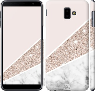 Чехол на Samsung Galaxy J6 Plus 2018 Пастельный мрамор