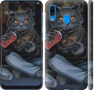 Чехол на Samsung Galaxy A20 2019 A205F gamer cat