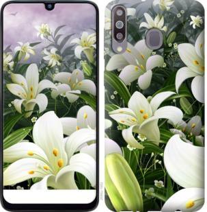 Чехол на Samsung Galaxy M30 Белые лилии