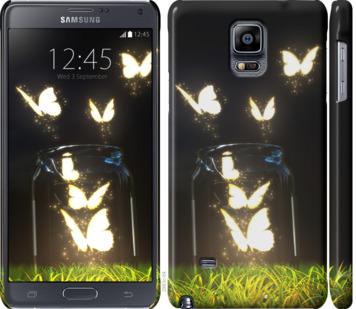 Чехол на Samsung Galaxy Note 4 N910H Светящиеся бабочки