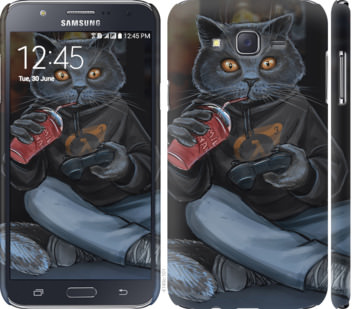 Чехол на Samsung Galaxy J7 J700H gamer cat