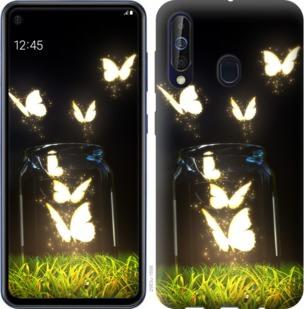 Чехол на Samsung Galaxy A60 2019 A606F Светящиеся бабочки