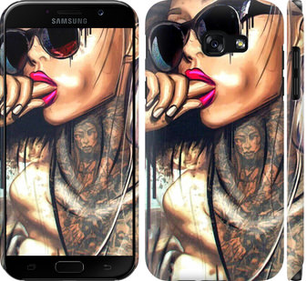 Чехол на Samsung Galaxy A5 (2017) Девушка в тату