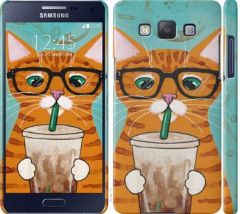 Чехол на Samsung Galaxy A5 A500H Зеленоглазый кот в очках