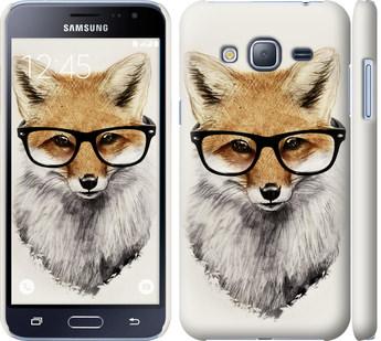 Чехол на Samsung Galaxy J3 Duos (2016) J320H Лис в очках