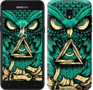 Чехол на Samsung Galaxy J7 2018 Сова Арт-тату