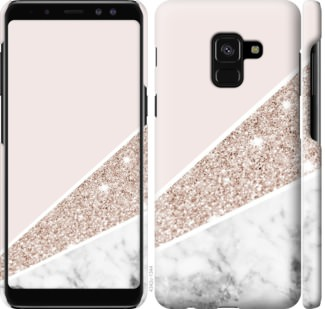 Чехол на Samsung Galaxy A8 2018 A530F Пастельный мрамор