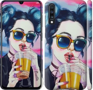 Чехол на Samsung Galaxy A70 2019 A705F Арт-девушка в очках