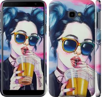 Чехол на Samsung Galaxy J4 Plus 2018 Арт-девушка в очках